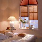 Plissee Rundbogenfenster