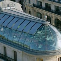 Sichtschutz Glaskuppel